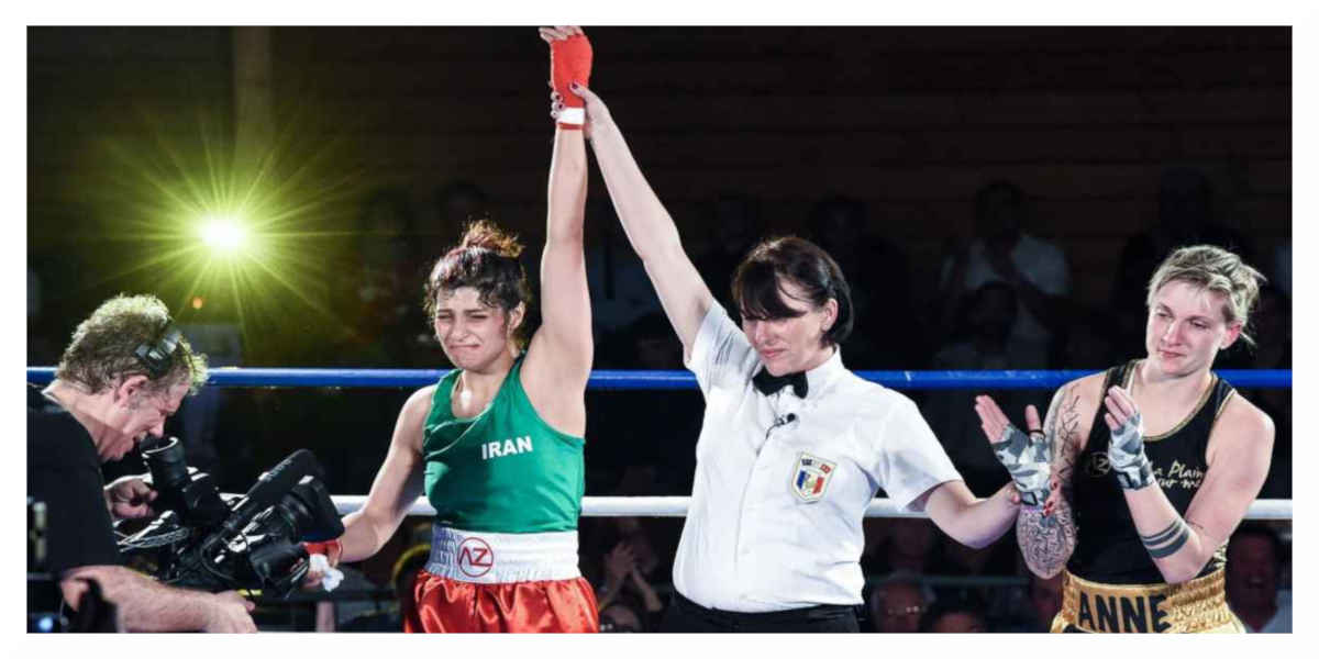 Sadaf Khadem gagne son premier combat à Royan